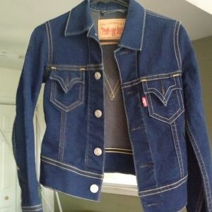 Levi's Iconic Denim Jacket - XS, Dark Blue